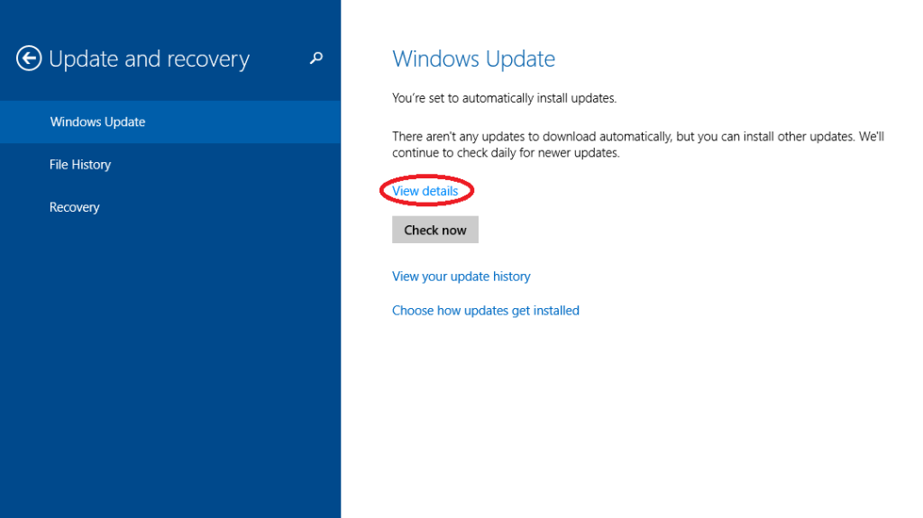 View Details to choose optional updates (you might need to check for updates first).